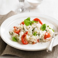 Mozzarella &amp; tomato risotto with basil recipe