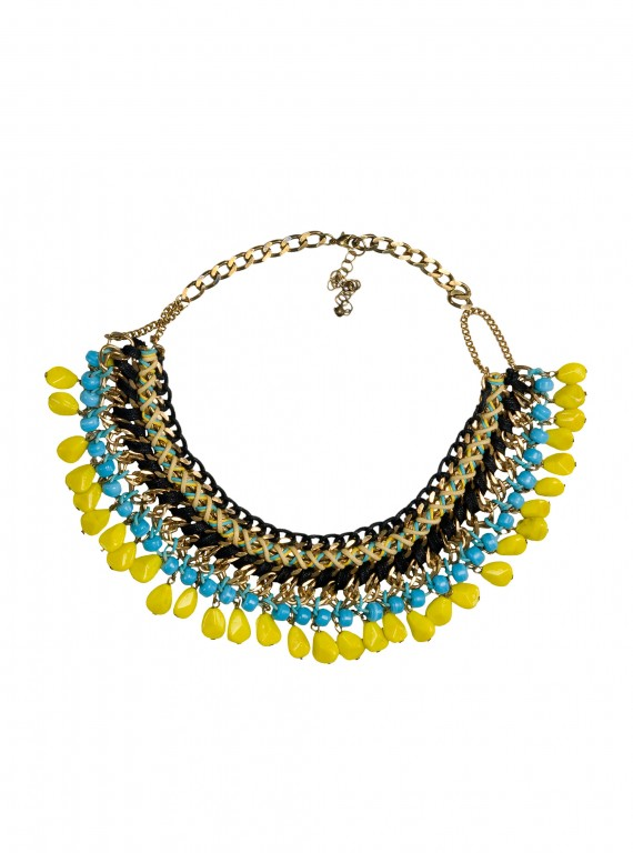 Zara Coloured Cord Necklace-womens fashion-new season fashion-necklace-woman and home
