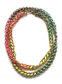 YUEN London at Boticca.com Neon Kumihimo Necklace