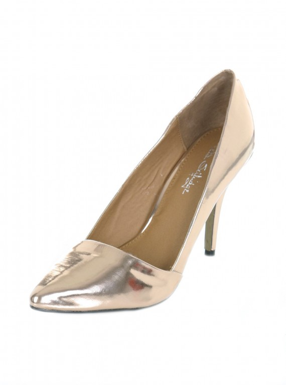 glamorous party shoes-accessories-partywear-woman and home-fashion-Miss Selfridge style rose gold point shoe