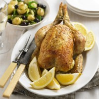 Roast chicken with warm potato salad recipe