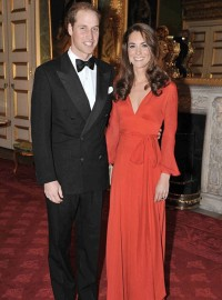 Kate Middleton Wearing Red
