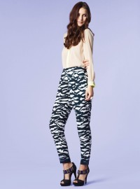 New Look Zebra Print Trousers