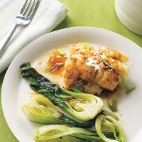 Carb Lover's Maple-Glazed Cod with Pak Choi