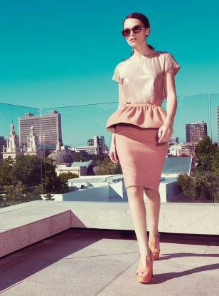 Warehouse Peplum Skirt