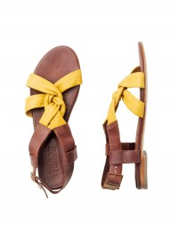 Toast Knotted Yellow Sandal