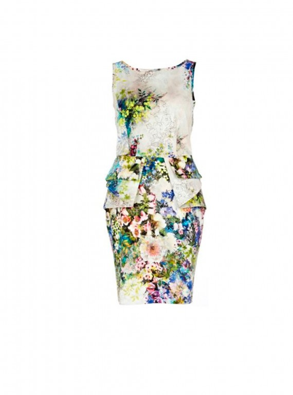 River Island floral print peplum dress-womans fashion-new season fashion-dresses-woman and home