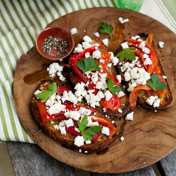 Red Pepper-Feta-Bruschetta-summer recipes-woman and home