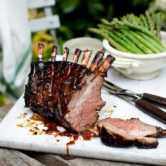 Sticky Rack of Lamb with Mint - Woman And Home