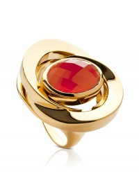 La Diosa at Boticca.com Carnelian Honey-Moon Ring