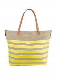 Marks and Spencer Striped Canvas Shopper Bag