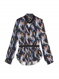 Theyskens' Theory ICrystal Print Silk Shirt