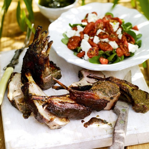 Summer rack of Lamb with Tomato Salad-recipes-menu ideas-food-woman and home