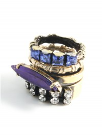 Iosselliani at Liberty Swarovski Stacking Rings