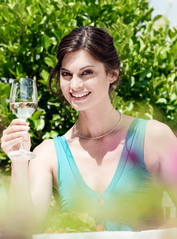 Woman drinking wine on holiday-The Holiday Diet-Diet Plans-Weight Loss-Health-Woman and Home