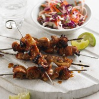 Chicken Skewers with Pickled Slaw