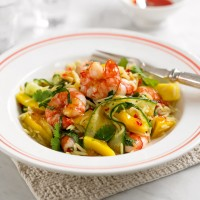Prawn and mango rice salad