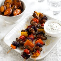 Sausage and Pepper Kebabs