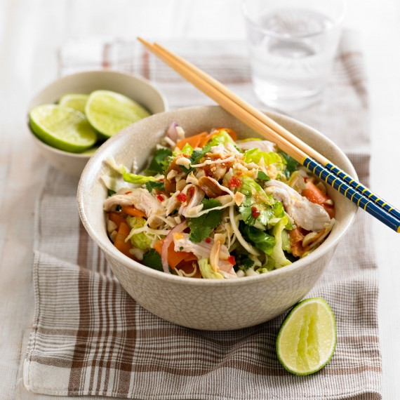 quick recipes-Thai chicken salad-peanuts-ginger-Woman&home
