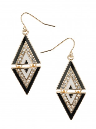 Dorothy Perkins Enamel and Stone Set Earrings