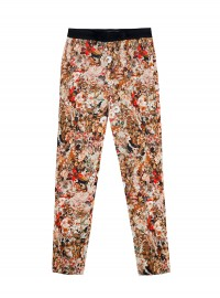 Zara Printed Trousers with Contrasting Waist
