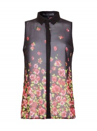 Mela Loves London Sheer Floral Blouse