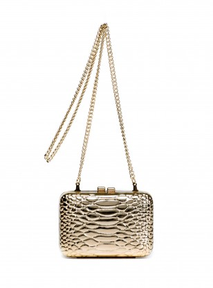 Mango Snake Skin Box Clutch