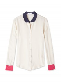 Equipment Fawn Sophie Colour Block Silk Shirt