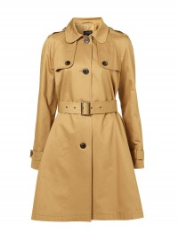 Topshop A-Line Peter Pan Collar Trench