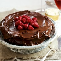 Dark chocolate and almond torte