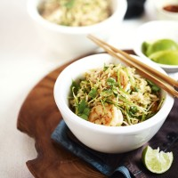Prawn and ginger stir-fry with basmati rice