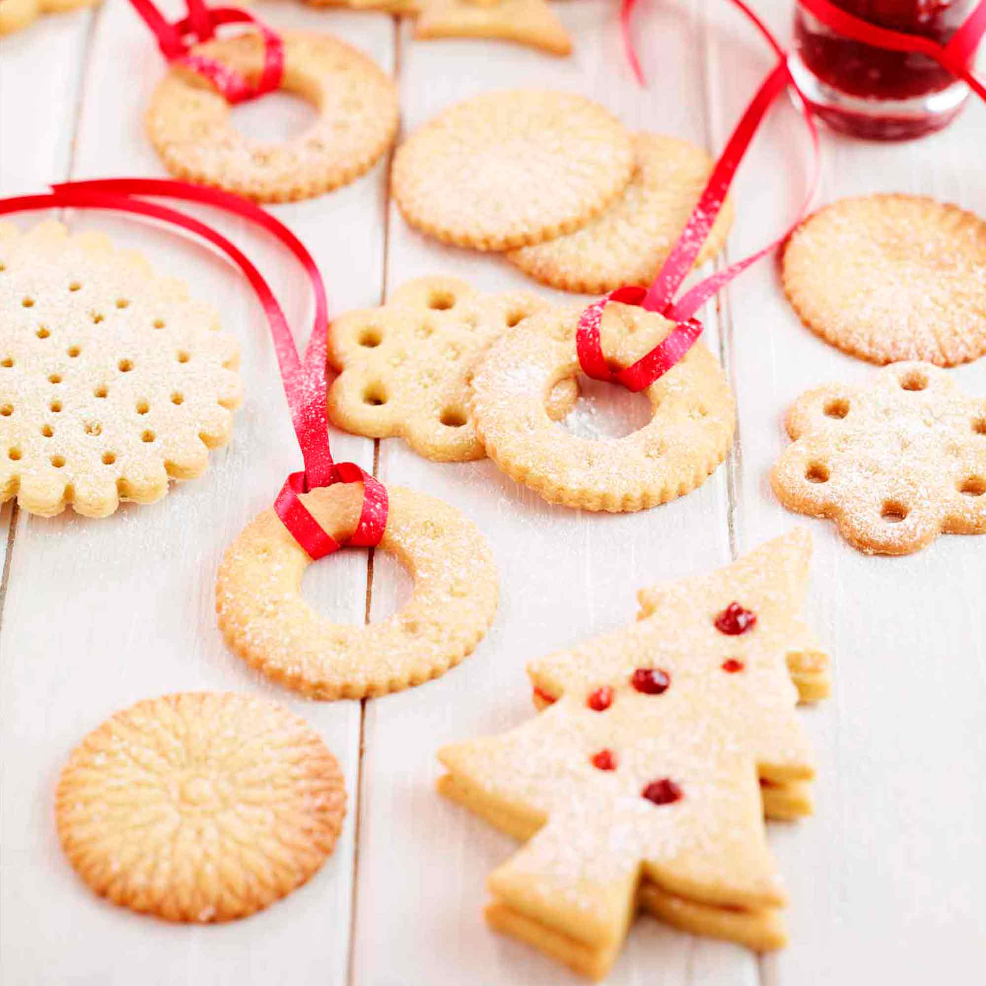 christmas shortbread woman and home