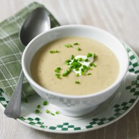New seasons garlic and jersey royal soup recipe