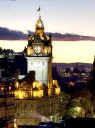 Sunset over Edinburgh Princes Street photo best city breaks