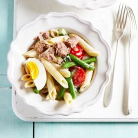 French Tuna Nicoise Pasta Salad