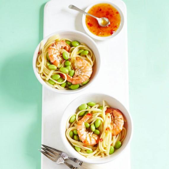 Sweet chilli prawn pasta recipe