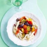 Mediterranean Roasted Vegetable and Tzatziki Pasta
