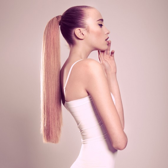 Long straight ponytail hairstyle