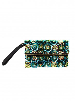 ASOS Beaded Iridescent Clutch
