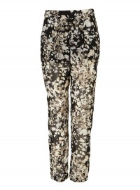 Topshop Chiffon Tapered Trousers