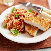 Pork escalope with spaghetti recipe
