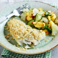 Coconut, Fish and Mango Salad