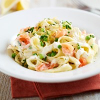 Smoked salmon tagliatelle recipe