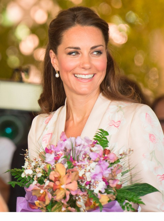 Photo of Kate Middleton with flowers