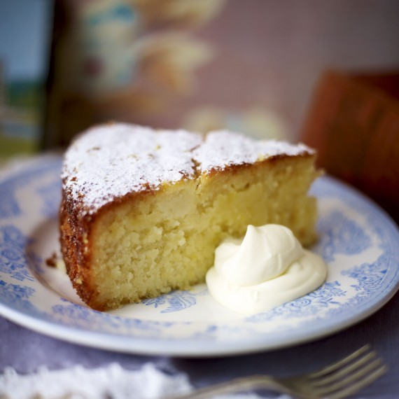 Sticky lemon cake-baking-woman and home