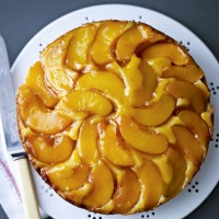 Peach and marzipan cake