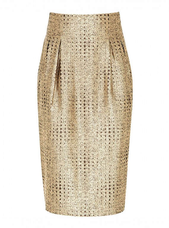 Reiss Bette Inverted Pleat Pencil Skirt