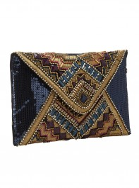 Accessorize Aztec Gem Envelope Clutch