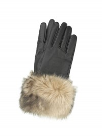 Accessorize Luxe Fur Cuff Leather Glove