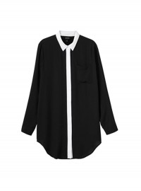 Monki Black and White Minnie Blouse
